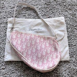 Christian Dior pink saddle shoulder bag